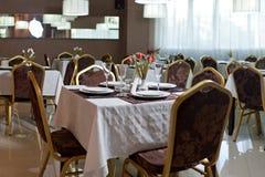 Het lege binnenland van het Restaurant Stock Foto's