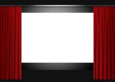 Het lege bioskoopscherm Royalty-vrije Stock Fotografie
