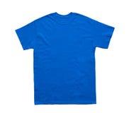 Het lege blauwe malplaatje van de T-shirtkleur Stock Afbeelding