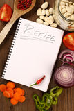 Het lege Boek van het Recept Stock Fotografie