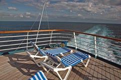 Het lege Dek van de Cruise royalty-vrije stock afbeeldingen