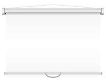 Het lege draagbare projectiescherm Stock Afbeelding