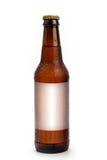Het Lege Etiket van de bierfles voor Plaatsing Stock Fotografie