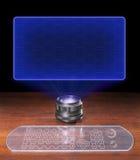 Het lege futuristische scherm Stock Fotografie