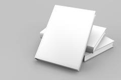 Het lege geïsoleerdee wit van de boekdekking Stock Foto