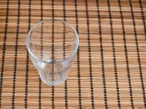 Het lege glas is op de lijst Stock Fotografie