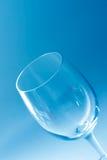 Het lege Glas van de Wijn royalty-vrije stock afbeelding