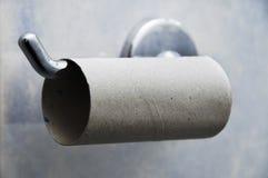 Het lege Hangen van de Closetrol op Houder Royalty-vrije Stock Fotografie
