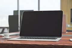 Het lege laptop scherm Royalty-vrije Stock Afbeelding