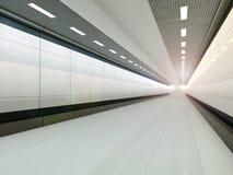 Het lege lichte grote zaal 3D teruggeven Royalty-vrije Stock Foto's