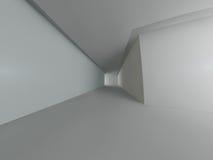 Het lege lichte grote zaal 3D teruggeven Stock Foto
