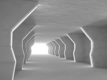 Het lege lichte grote zaal 3D teruggeven Royalty-vrije Stock Fotografie