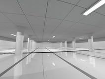 Het lege lichte grote zaal 3D teruggeven Stock Foto's