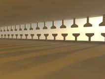 Het lege lichte grote zaal 3D teruggeven Royalty-vrije Stock Afbeelding