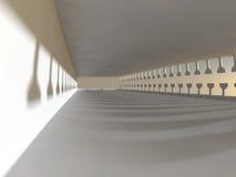Het lege lichte grote zaal 3D teruggeven Stock Fotografie