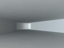 Het lege lichte grote zaal 3D teruggeven Royalty-vrije Stock Afbeeldingen