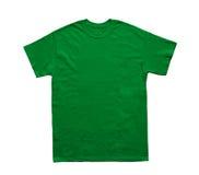 Het lege lichtgroene malplaatje van de T-shirtkleur Royalty-vrije Stock Fotografie