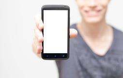Het lege mobiele telefoonscherm Stock Afbeeldingen