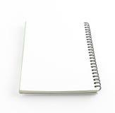 Het lege notitieboekje isoleert  Stock Fotografie