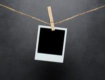 Lege onmiddellijke foto met het knippen van weg Stock Afbeeldingen