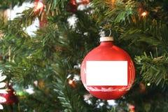 Het lege Ornament van Kerstmis Stock Fotografie
