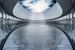 Het lege ovale licht van de arenavlek Stock Afbeelding