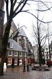 Het Lege Plein van Amsterdam Stock Foto's