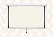 Het lege projectiescherm Stock Fotografie