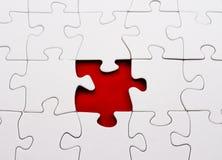 Het lege rood van het puzzel ontbrekende stuk Stock Foto's
