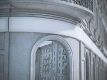 Het lege scherm op het gebouw het 3d teruggeven Stock Afbeelding