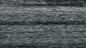 Het lege statische het scherm witte lawaai van televisietv zet dan met uit echo uit stock footage