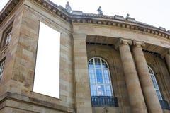 Het lege Stedelijke Milieu Stuttgart Geramny Openbare B van de Advertentie Ruimtestad stock foto's
