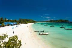 Het Lege Strand van Kolipe Thailand vóór Toerisme Royalty-vrije Stock Fotografie