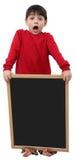 Het Lege Teken van de Jongen van de school Stock Foto's