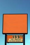 Het lege Teken van het Motel stock foto's