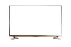 Het lege TV-scherm met het knippen van weg Stock Foto