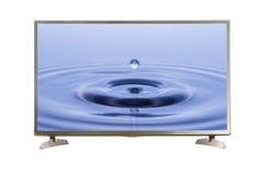 Het lege TV-scherm met het knippen van weg Stock Afbeelding