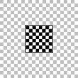 Het lege vlakke pictogram van de schaakraad royalty-vrije illustratie