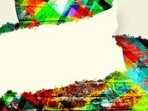 Het lege Witboek op baksteen kleurde terug gevormd Royalty-vrije Stock Foto