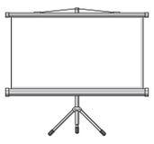 Het scherm van de projector Stock Foto's