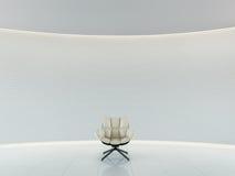 Het lege witte ruimte moderne ruimte binnenlandse 3d teruggeven Stock Fotografie