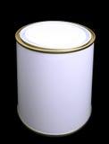 Het lege Witte Tin van de Verf (met het knippen van weg) Royalty-vrije Stock Foto's