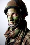 Het leger maakt omhoog portret Royalty-vrije Stock Afbeelding