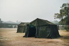 het Leger militaire kamp, niemand, overal in de wereld royalty-vrije stock afbeeldingen