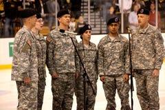Het Leger Nationale Wacht van Massachusetts Stock Afbeeldingen
