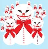 Het leger van de sneeuwman Royalty-vrije Stock Foto