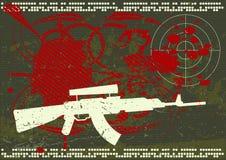 Het legerachtergrond van Grunge Stock Fotografie