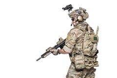 Het Legerboswachter van de V.S. met wapen stock afbeeldingen