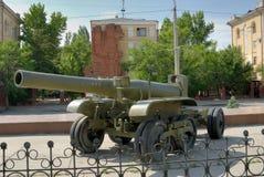 Het legerkanon van het groot-kaliber - de Houwitser. Royalty-vrije Stock Fotografie