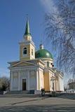 Het legerkathedraal van de Nikolskykozak binnen in Omsk, Rusland Royalty-vrije Stock Foto